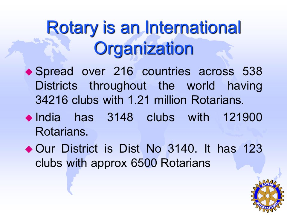 Rotary Club of Mumbai Nariman Point u Chartered on 1 st May 2002 u Present strength 68 members u Has made a distinct identity in District for being very young club u Average age is 42 u Famous for its camaraderie & bonding u Has great fellowship's & does equally good and unique charity projects