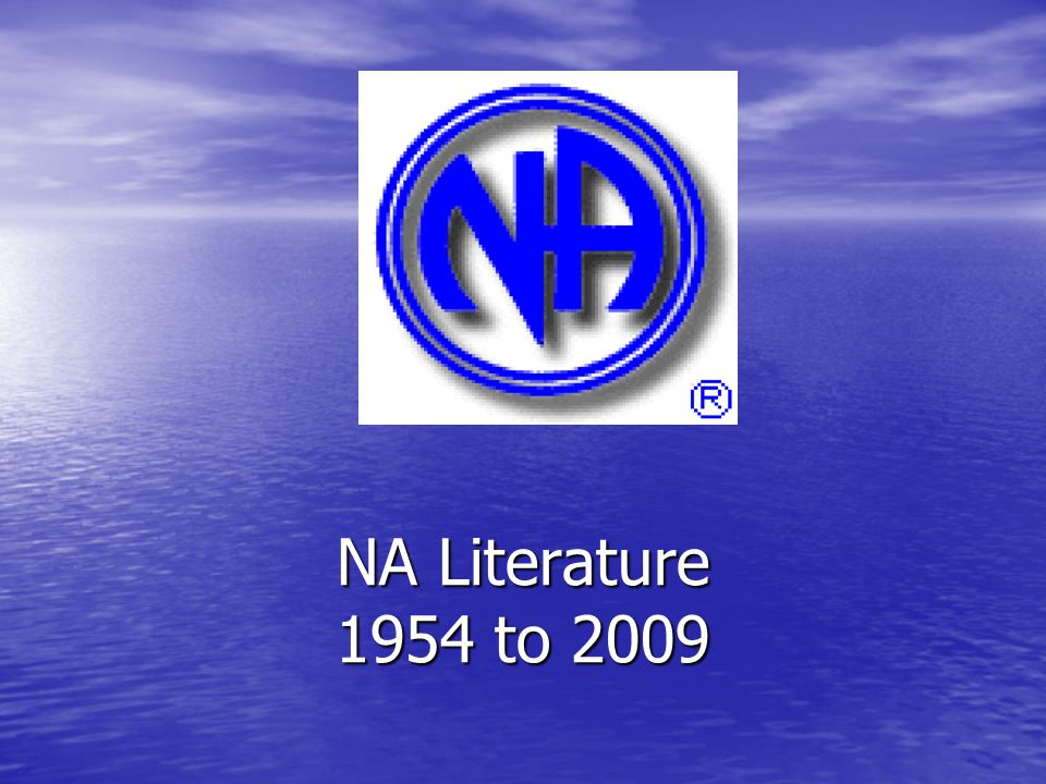 NA Literature 1954 to 2009