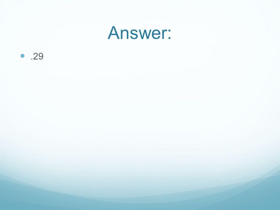 Answer:.29