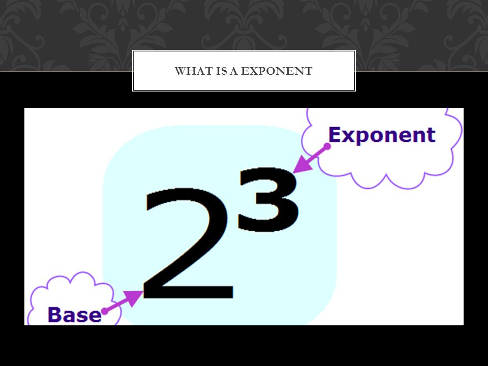 WHAT IS A EXPONENT