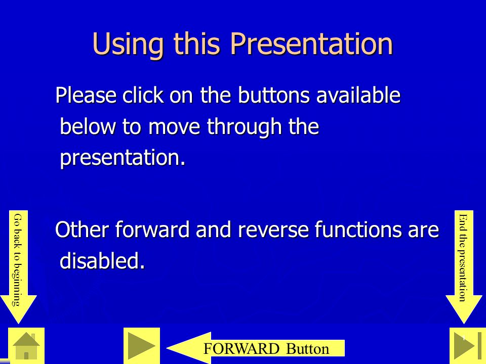 0 23 46 1 Using this Presentation Please click on the buttons available below to move through the presentation. Please click on the buttons available