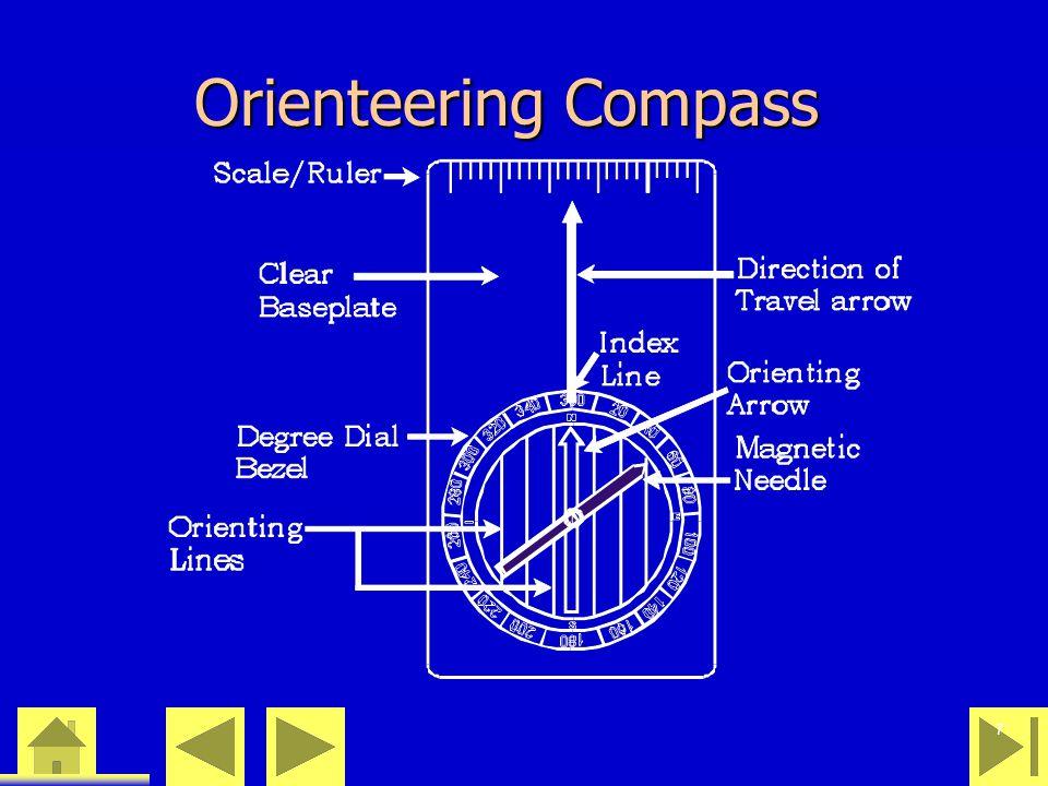 0 23 46 7 Orienteering Compass
