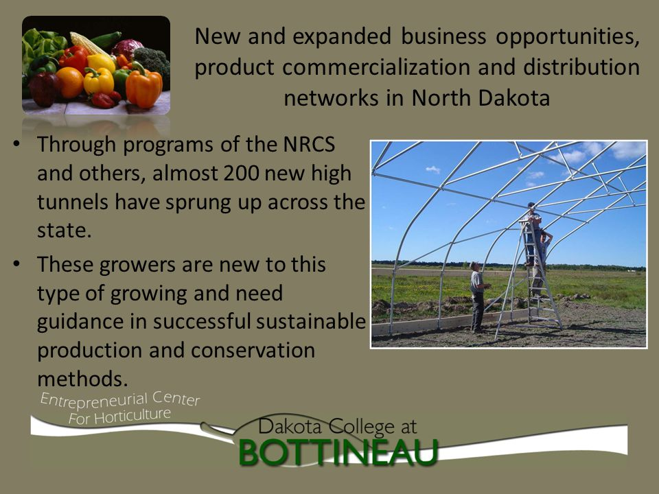 Through programs of the NRCS and others, almost 200 new high tunnels have sprung up across the state.