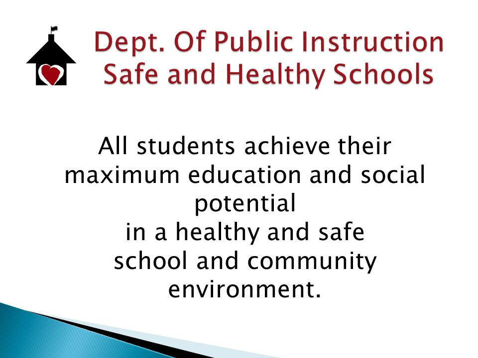  Youth Risk Behavior Survey (YRBS)  Designed to:  Monitor trends  Compare state and national health risk behaviors  Plan, evaluate and improve schools and communities