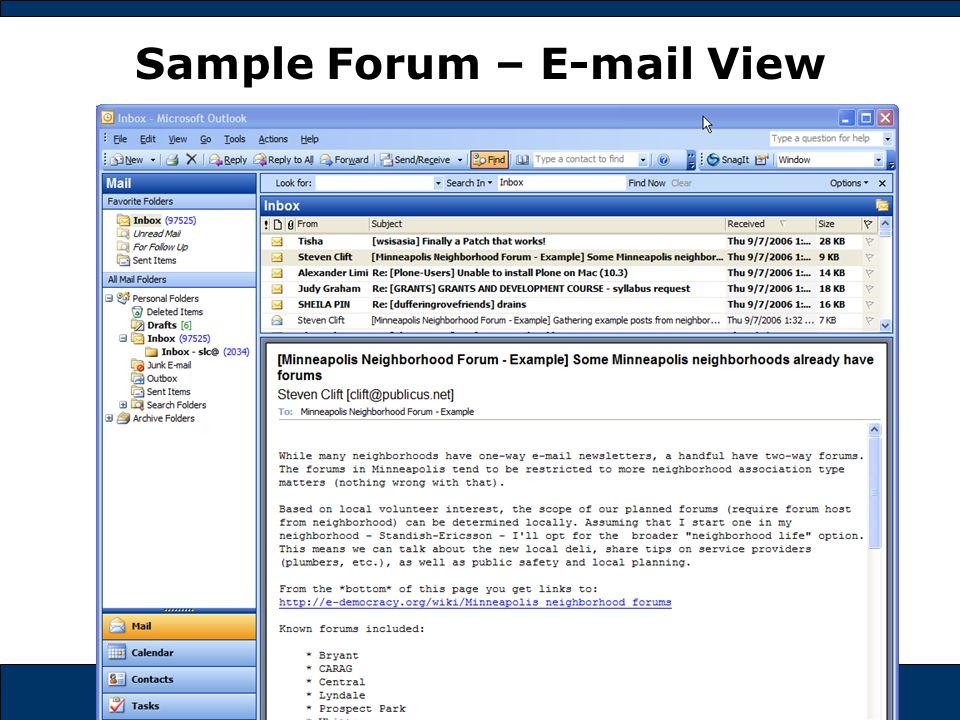 e-democracy.org Sample Forum – E-mail View