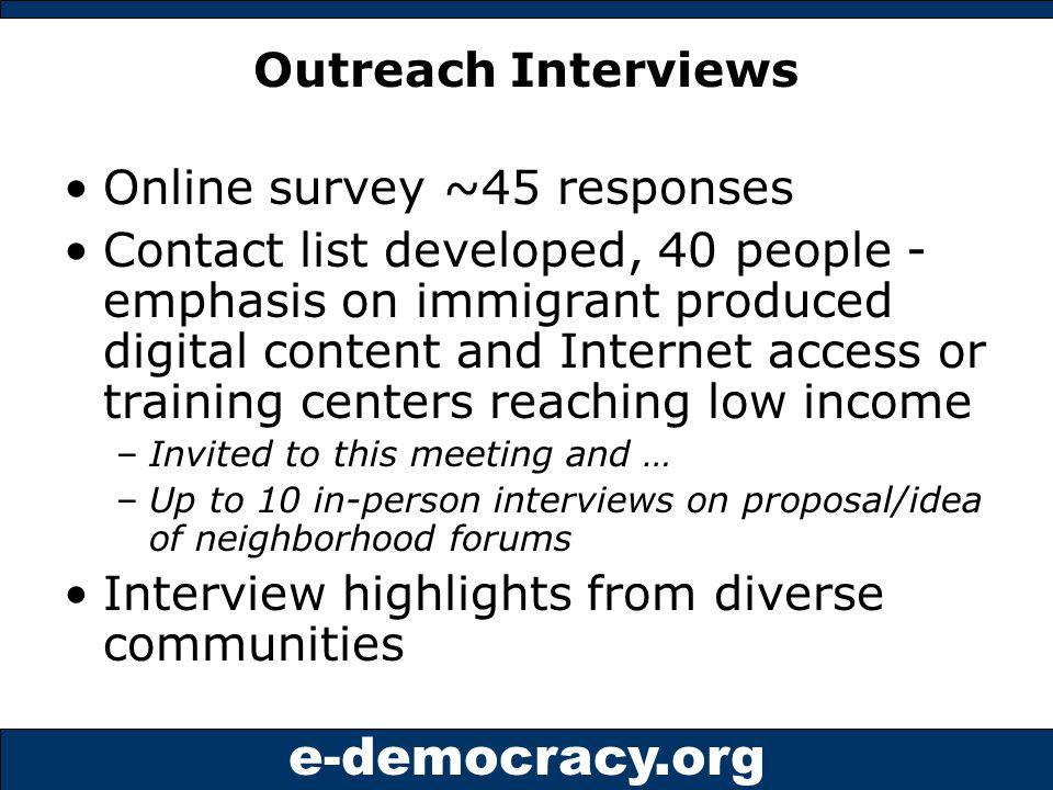 e-democracy.org Start One 5.