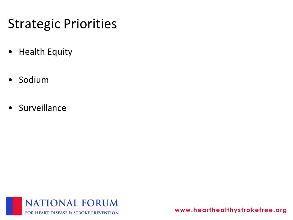Strategic Priorities Health Equity Sodium Surveillance
