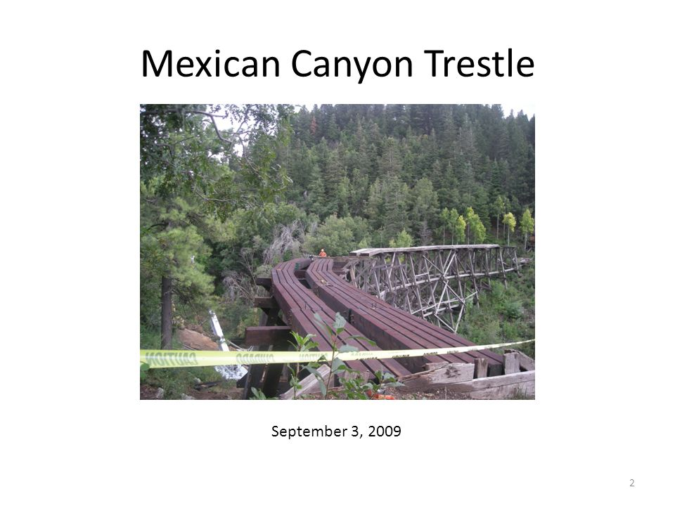 Mexican Canyon Trestle September 3, 2009 2