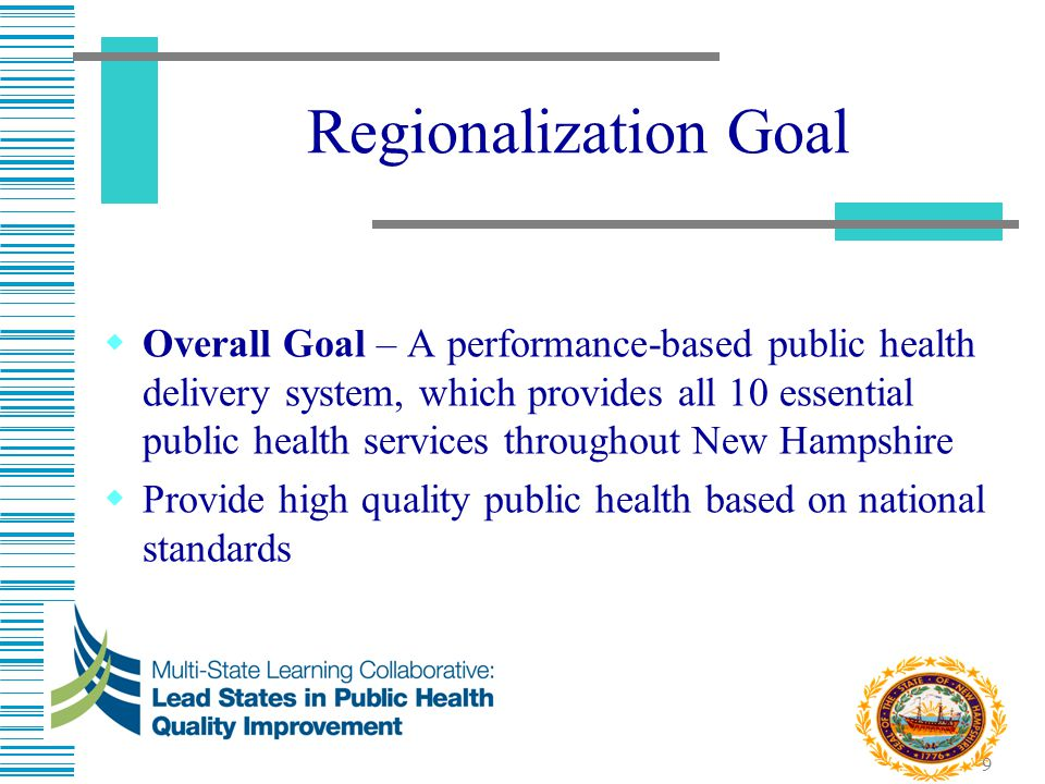 10 Why do we need regional public health in one of the healthiest states.