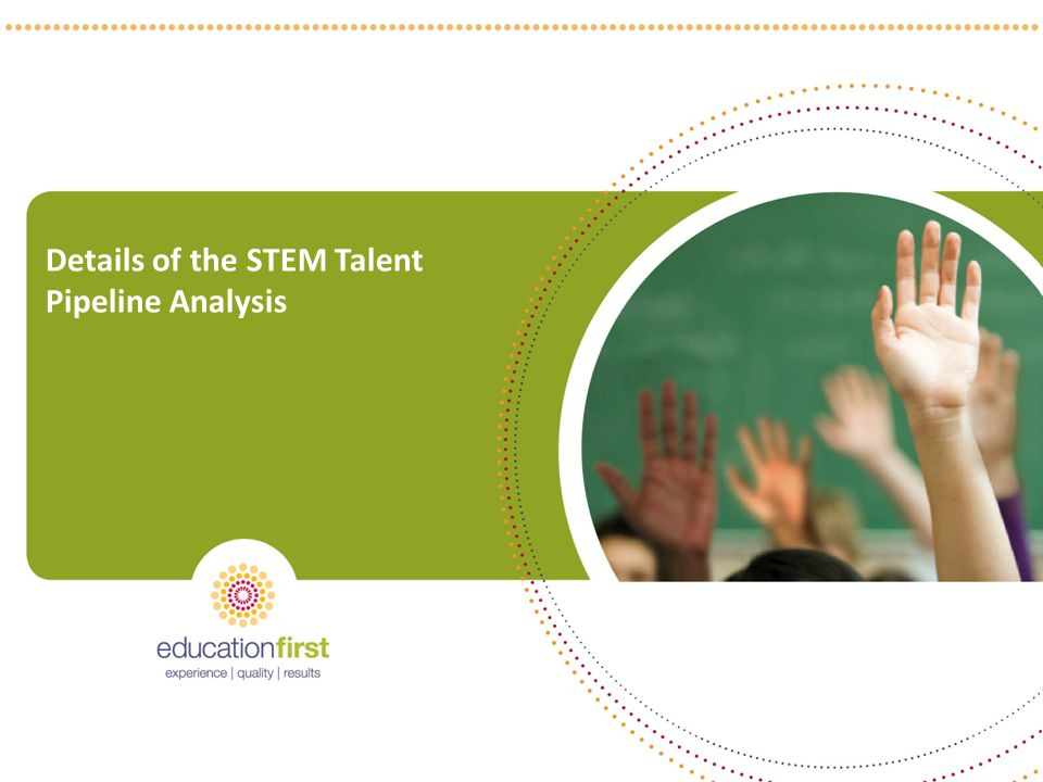 Details of the STEM Talent Pipeline Analysis