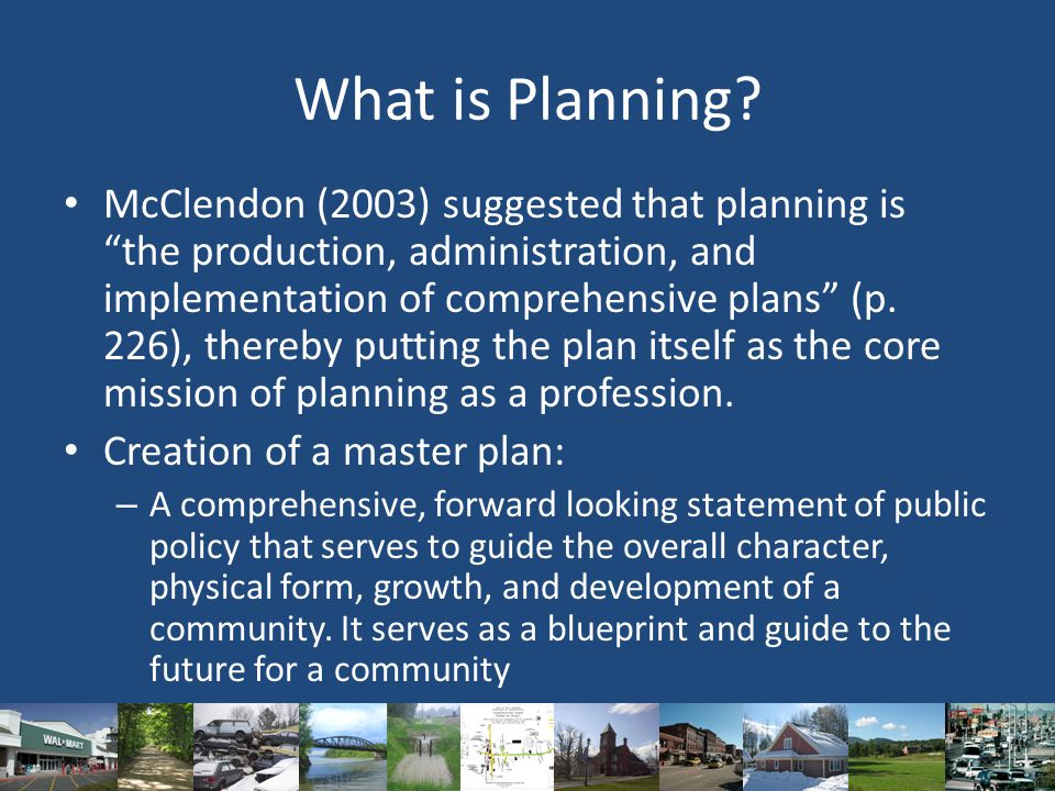 What is Planning.
