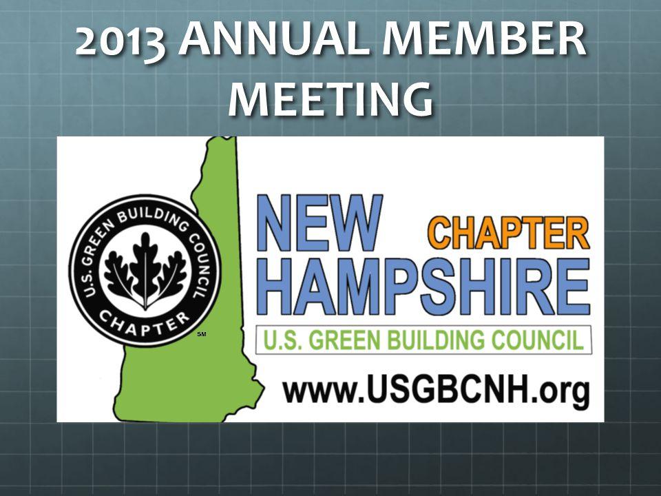 2013 ANNUAL MEMBER MEETING