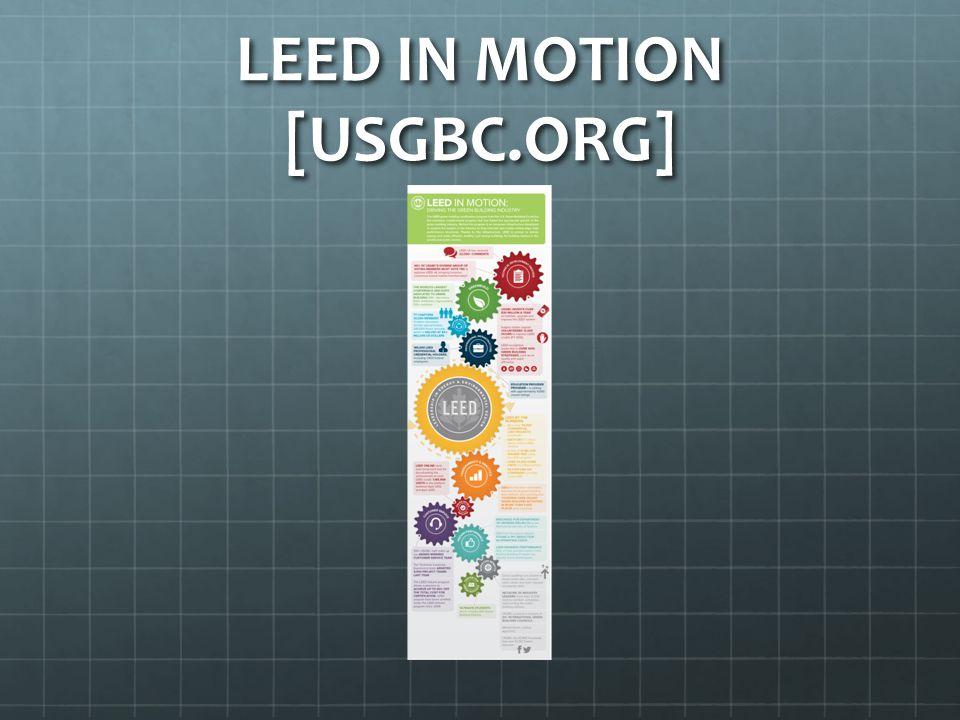 LEED IN MOTION [USGBC.ORG]