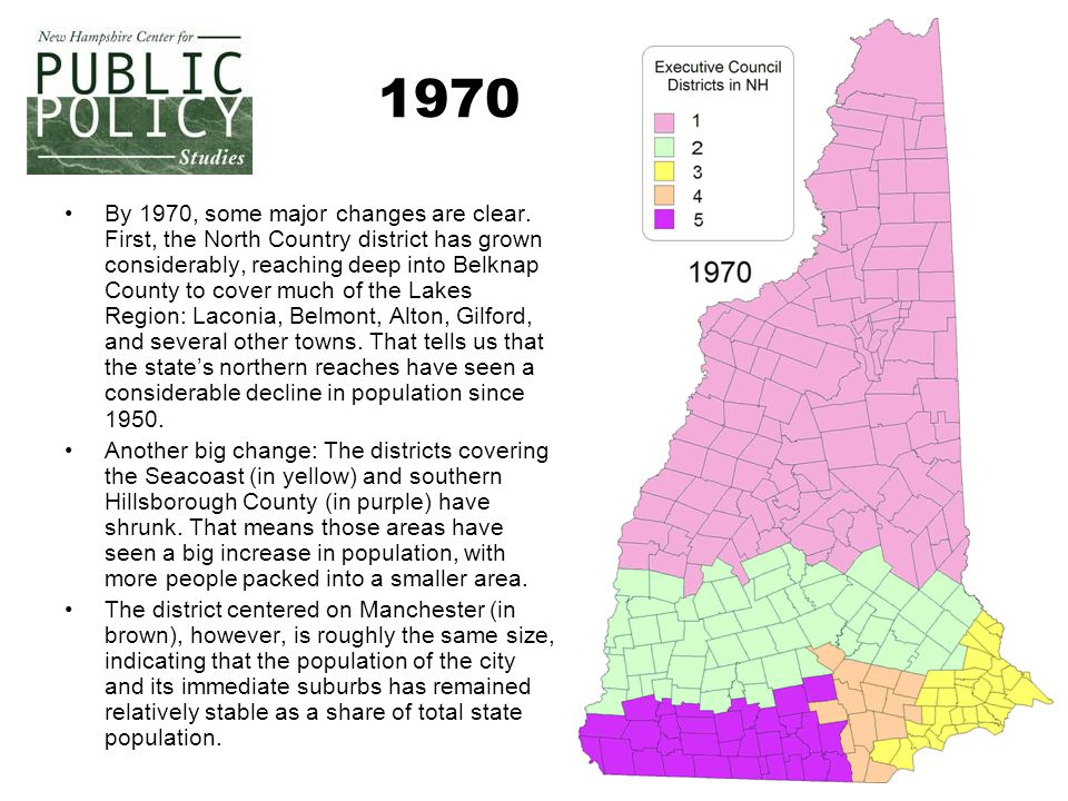 4 1970 By 1970, some major changes are clear.