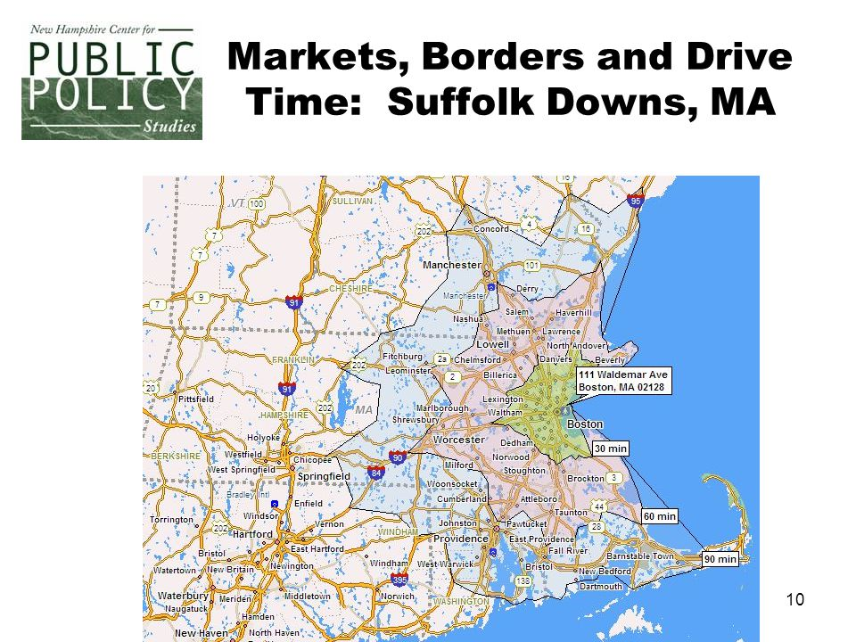10 Markets, Borders and Drive Time: Suffolk Downs, MA