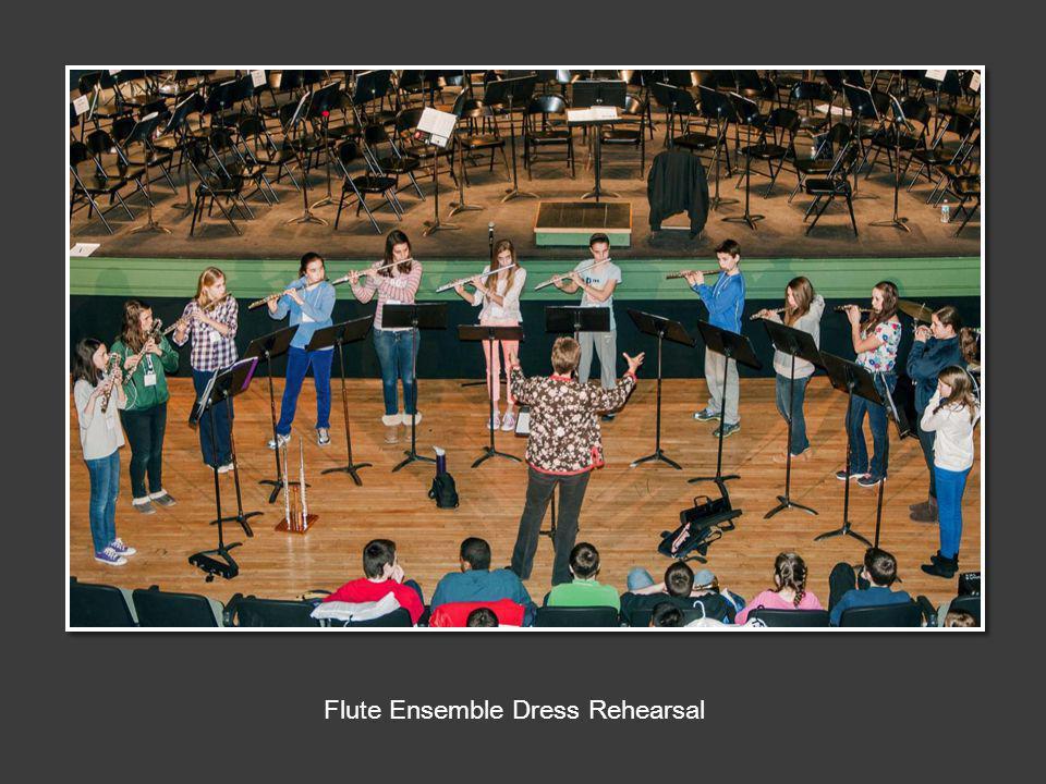 Flute Ensemble Dress Rehearsal