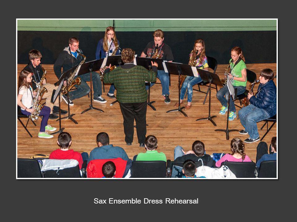 Sax Ensemble Dress Rehearsal