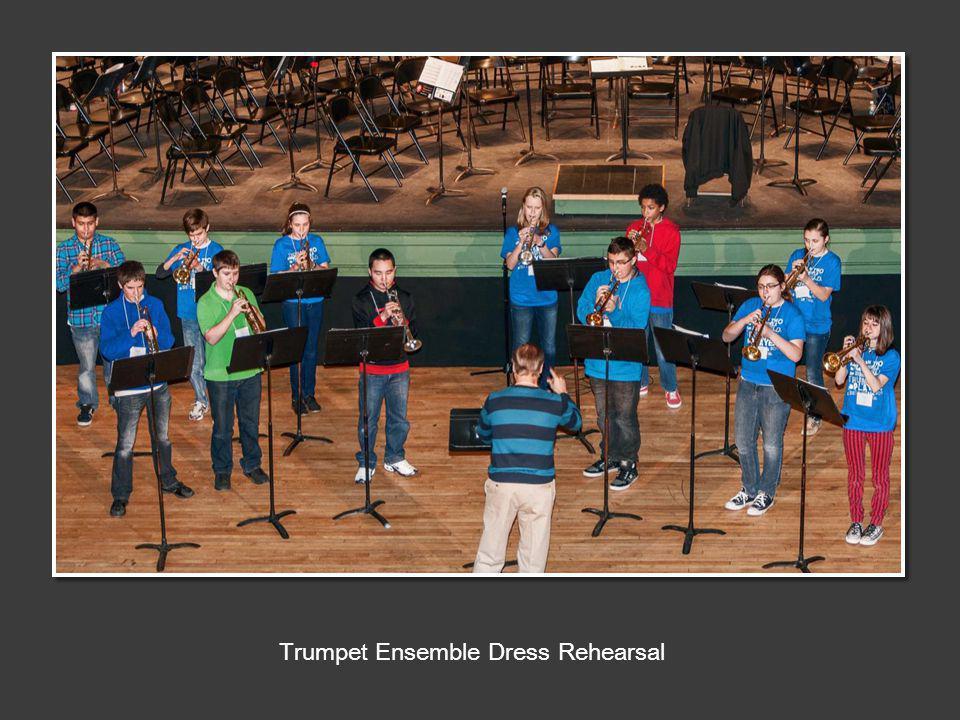 Trumpet Ensemble Dress Rehearsal