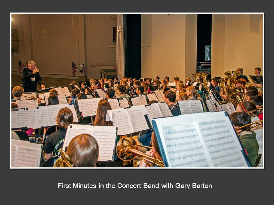 First Minutes in the Concert Band with Gary Barton