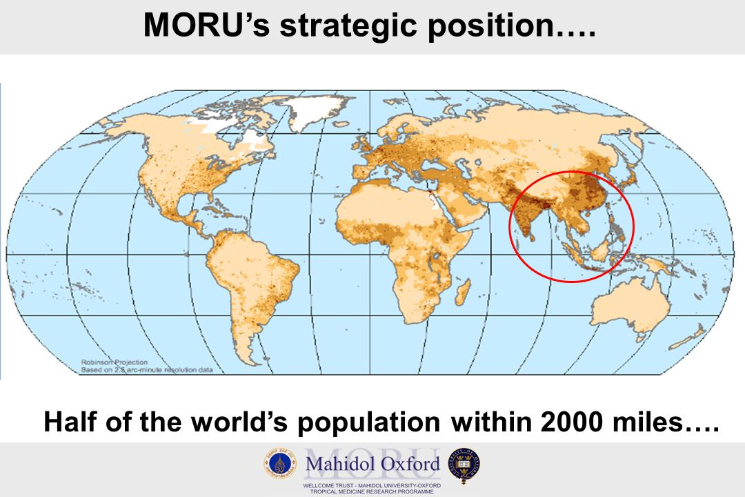 MORU's strategic position…. Half of the world's population within 2000 miles….