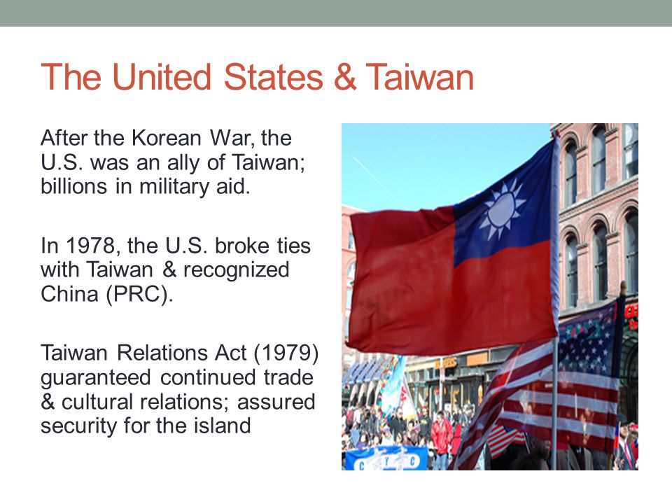 The United States & Taiwan After the Korean War, the U.S.