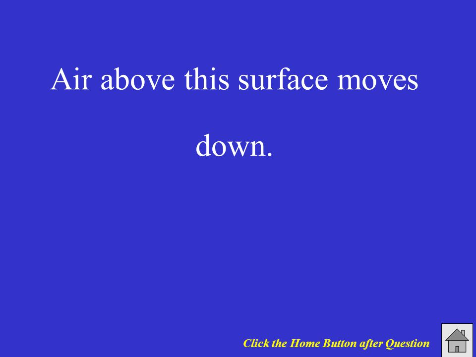 Air above this surface moves down. Click the Home Button after Question