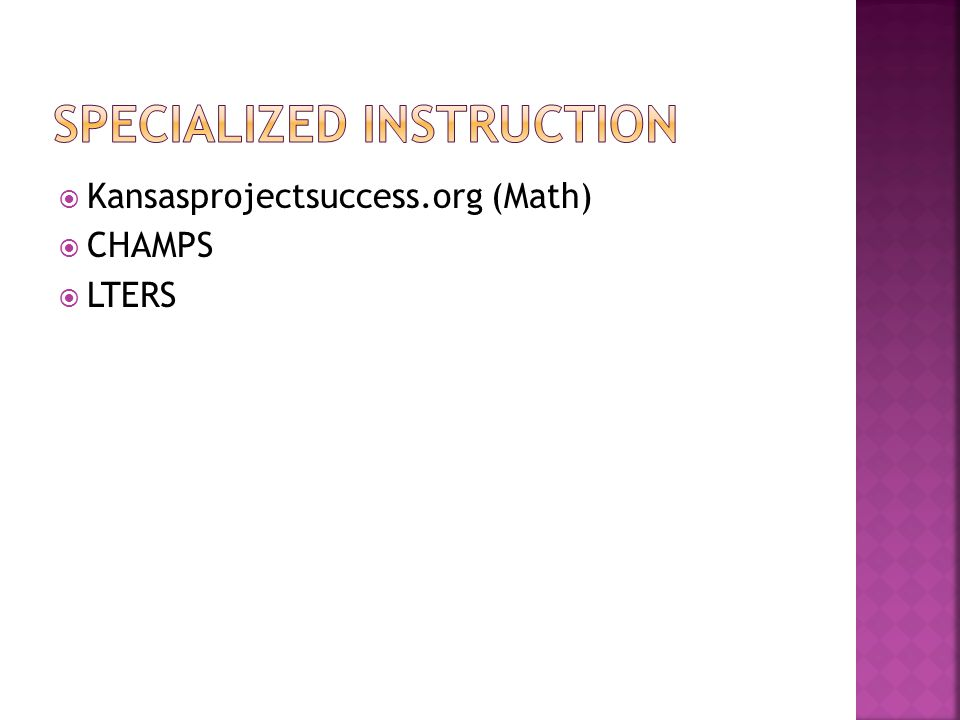  Kansasprojectsuccess.org (Math)  CHAMPS  LTERS