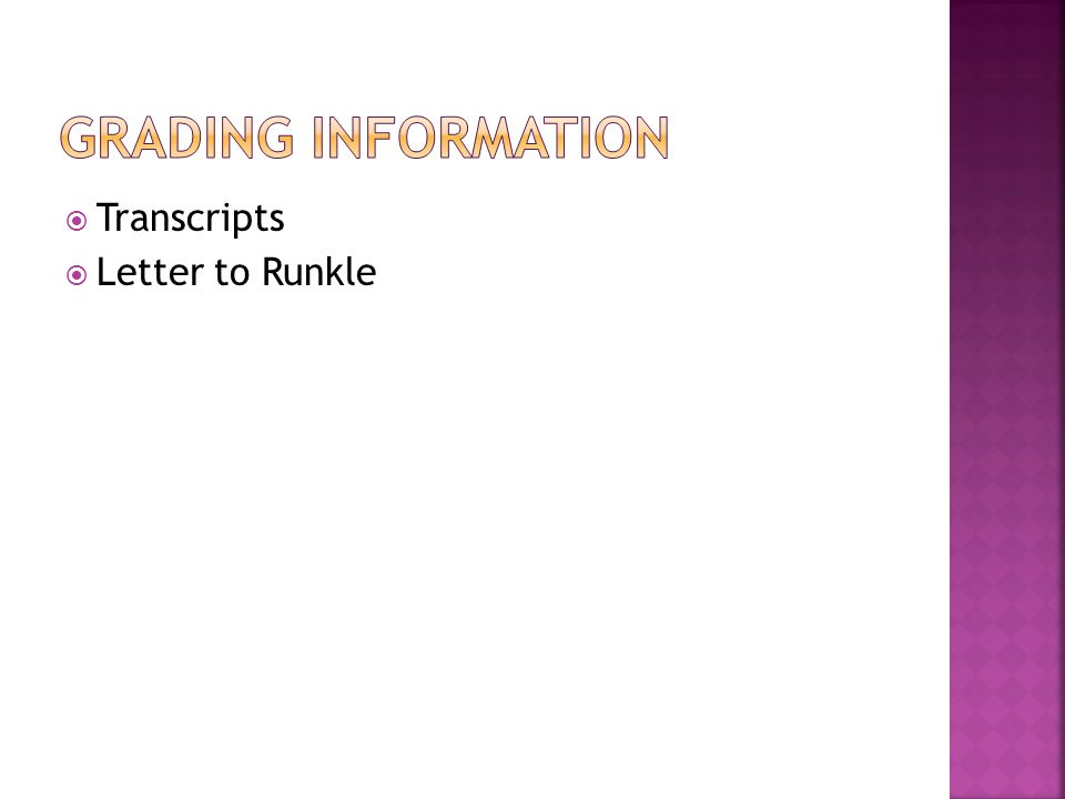  Transcripts  Letter to Runkle