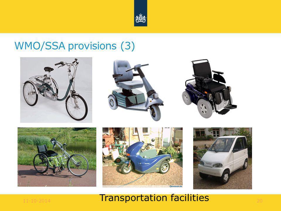 11-10-201420 WMO/SSA provisions (3) Transportation facilities