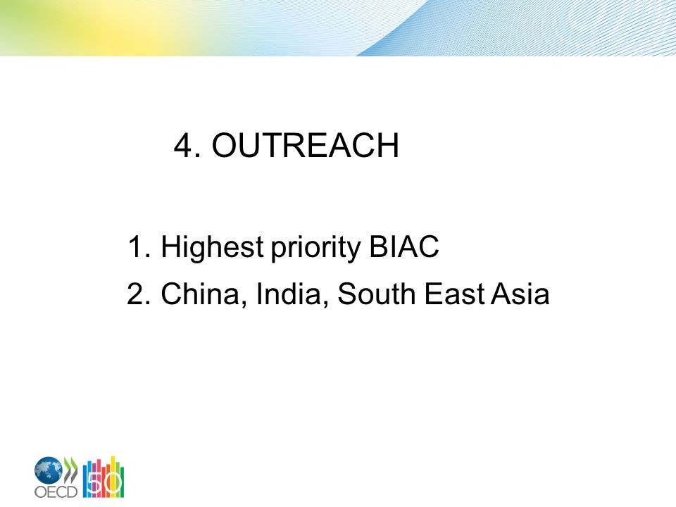 4. MENU for outreach 1. Translation 2. Analysis (comparison OECD GL – National CSR policy) 3.
