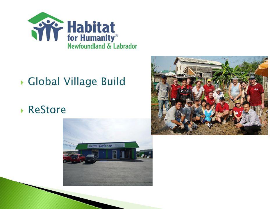  Global Village Build  ReStore