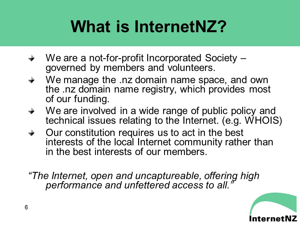 6 What is InternetNZ.