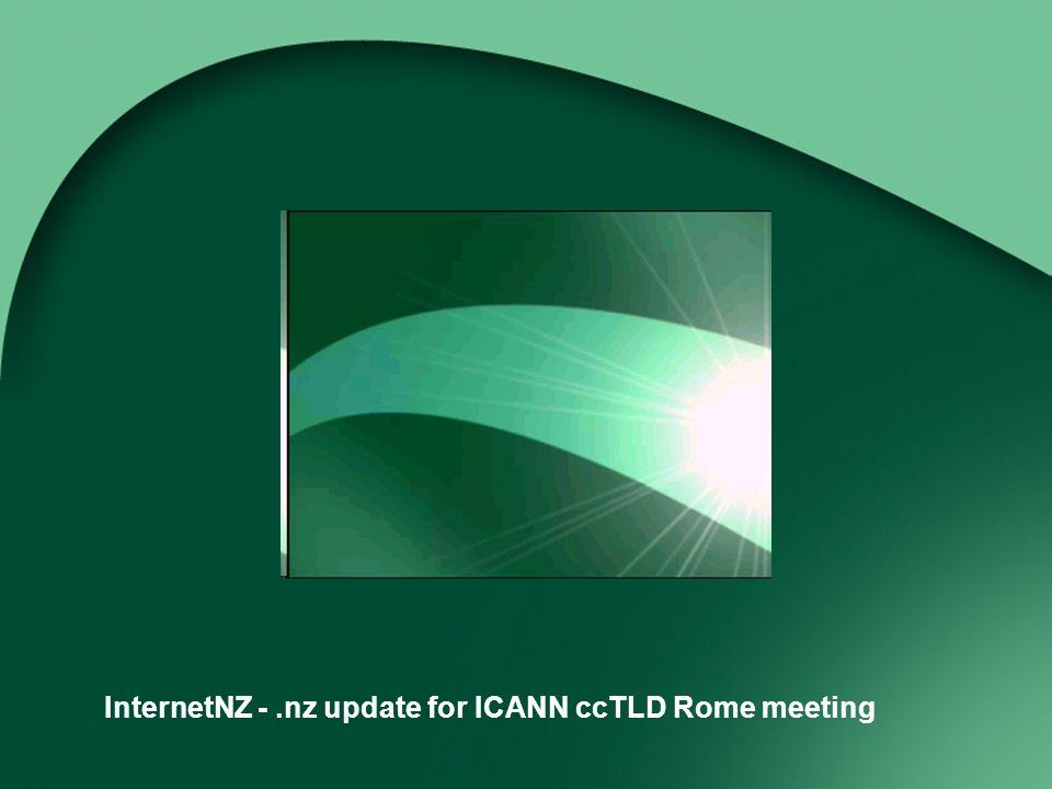 InternetNZ -.nz update for ICANN ccTLD Rome meeting