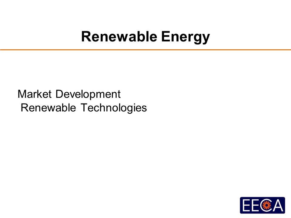Renewable Energy Market Development Renewable Technologies