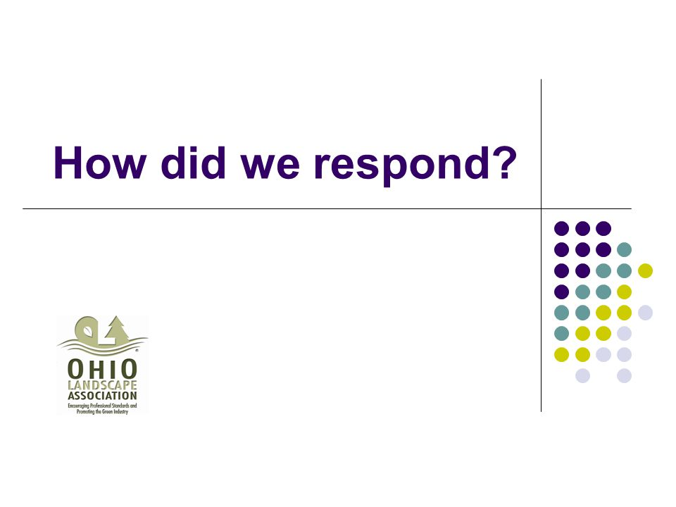 How did we respond?