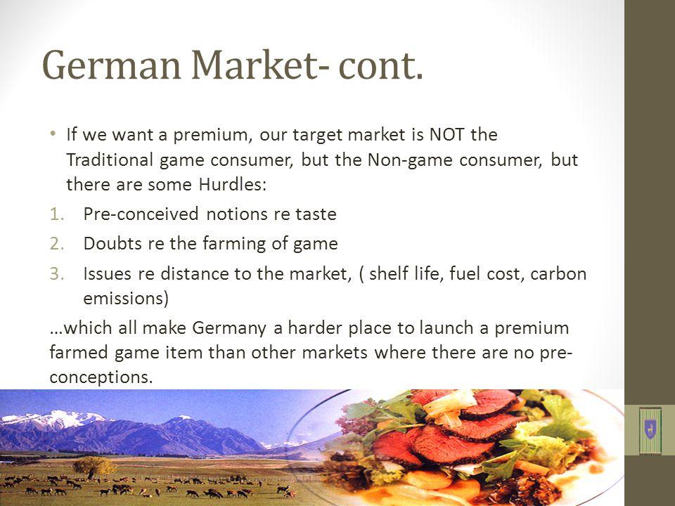 German Market- cont.