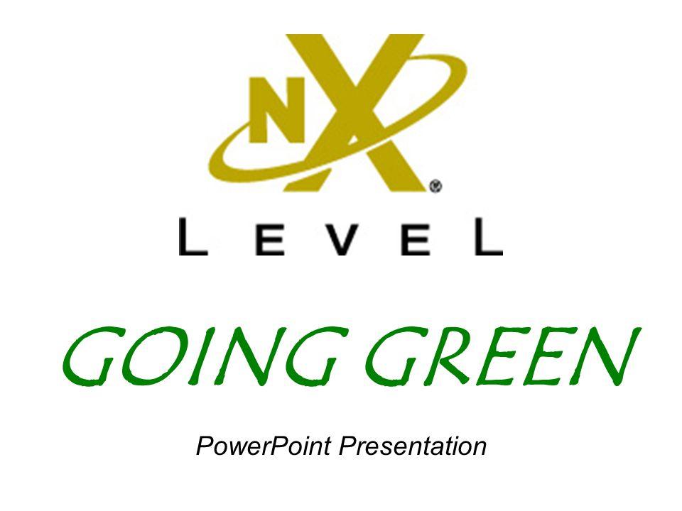 GOING GREEN PowerPoint Presentation