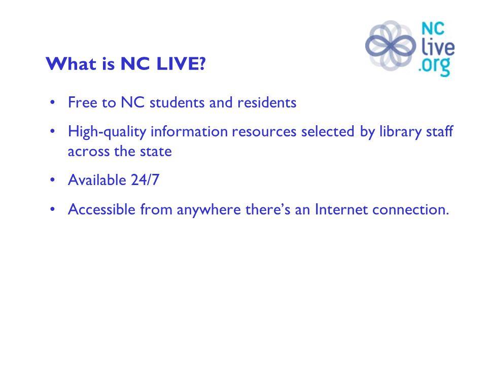 Collaborative Effort Over 195 North Carolina library systems participate.