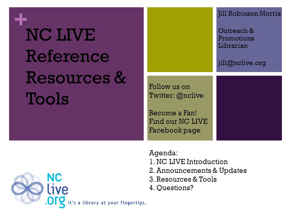 + New NC LIVE Website Redesigned with end-users in mind More prominent integrated search tool Removed log-in until point-of- need Improved browsing functionality Improved For Library Staff section Integrated NC Knows chat service