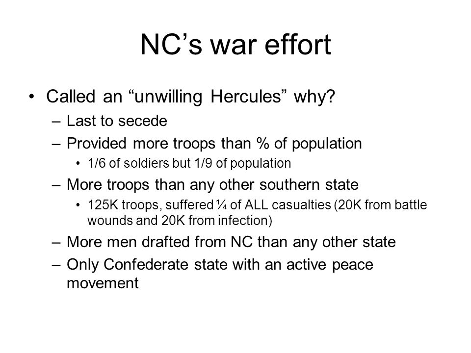 Questions A.What was NC called regarding the Civil War effort.