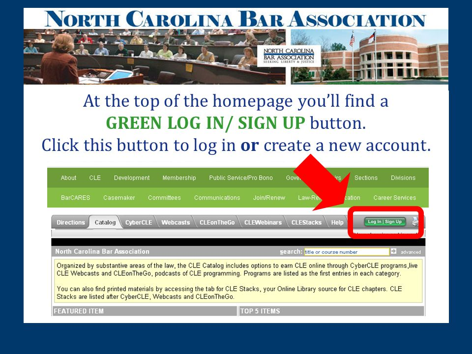 At the top of the homepage you'll find a GREEN LOG IN/ SIGN UP button.