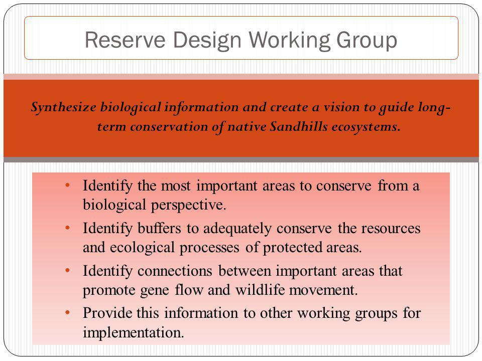 Identify the most important areas to conserve from a biological perspective.