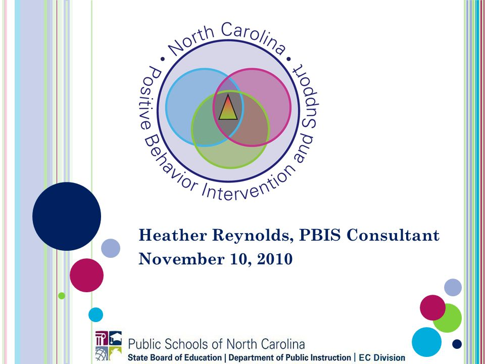 Heather Reynolds, PBIS Consultant November 10, 2010