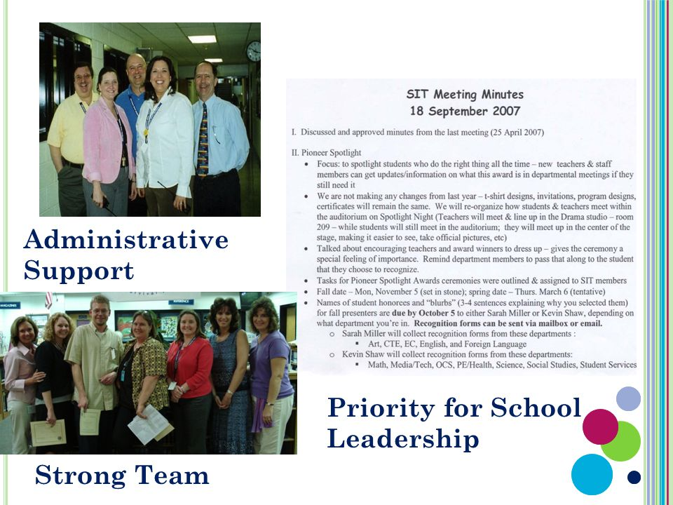 Administrative Support Strong Team Priority for School Leadership