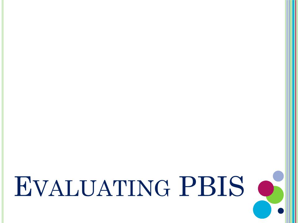 E VALUATING PBIS