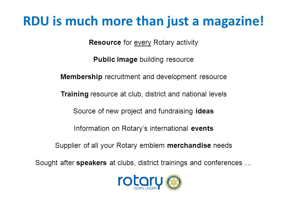 RDU is much more than just a magazine.