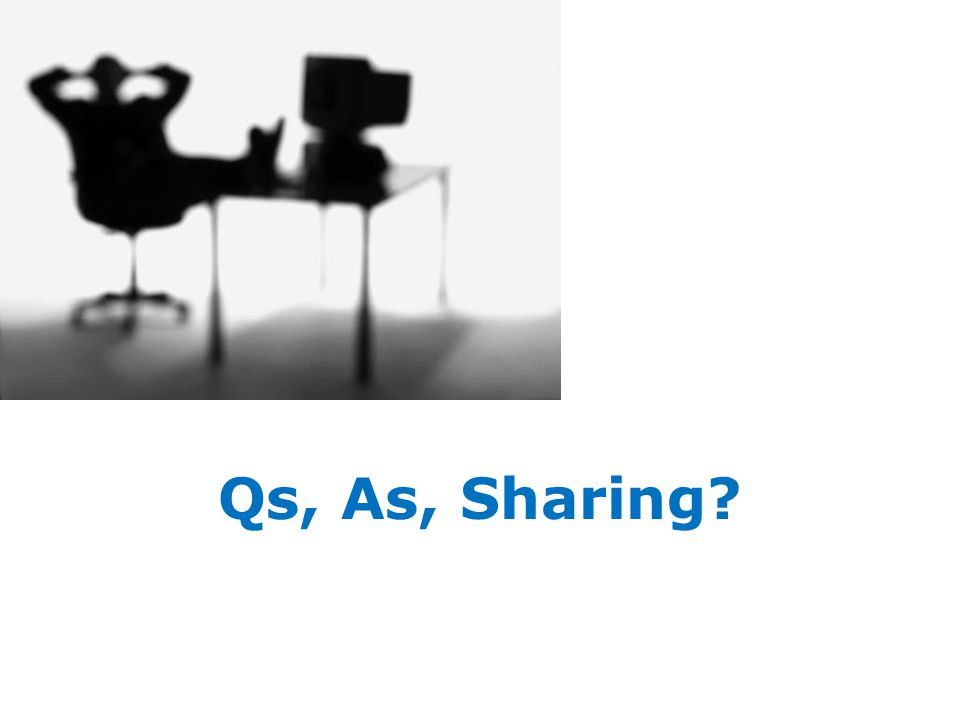 Qs, As, Sharing?