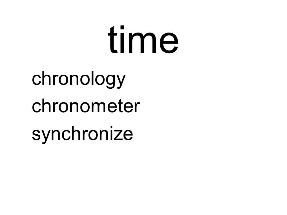 time chronology chronometer synchronize