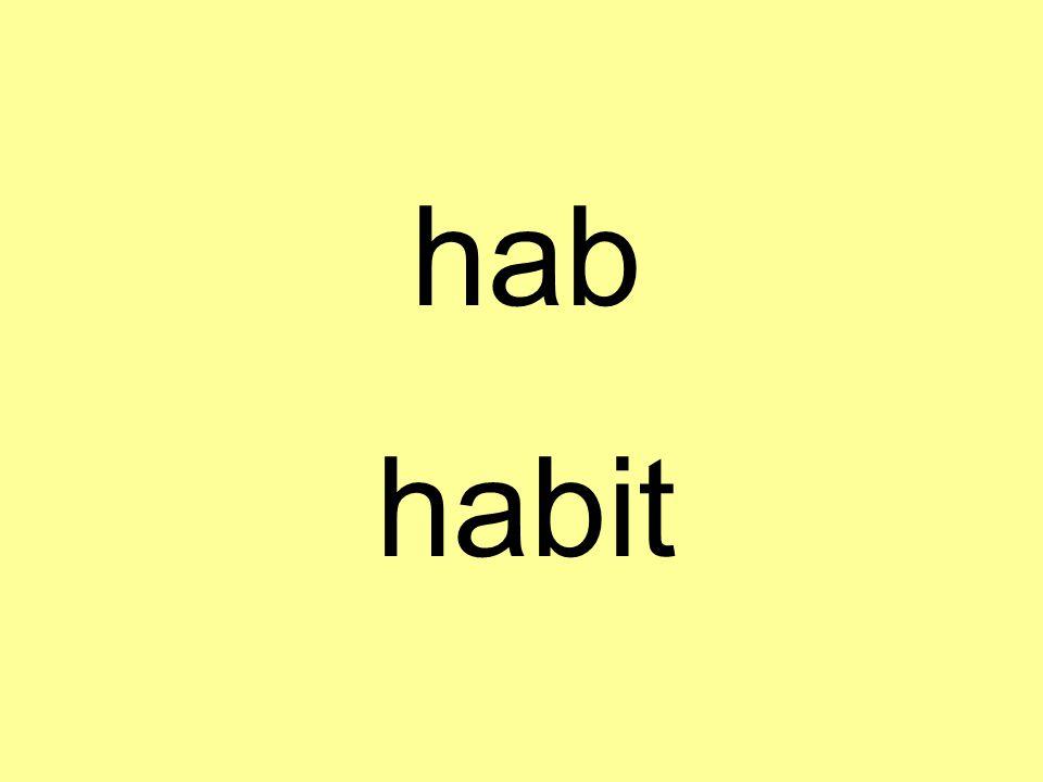 hab habit