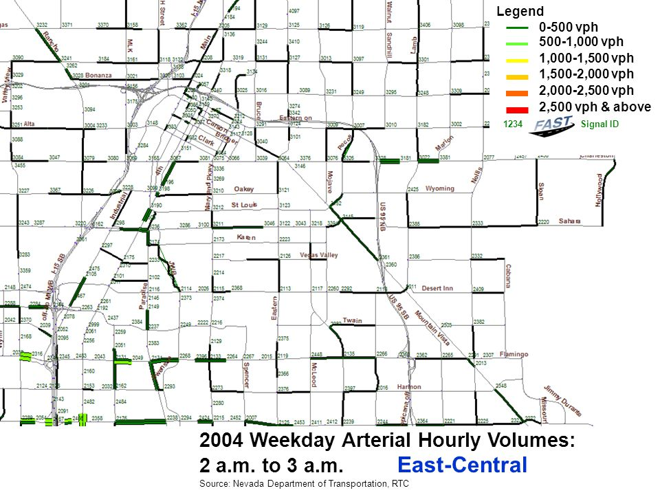 2004 Weekday Arterial Hourly Volumes: 3 a.m.to 4 a.m.